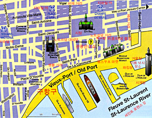 Old Montreal Tour Map
